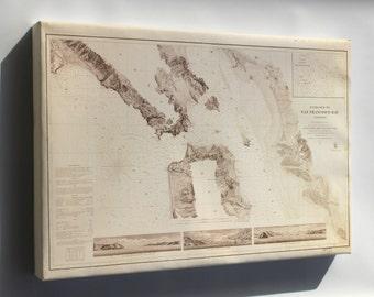Canvas 24x36; Map Of Entrance San Francisco Bay California 1859