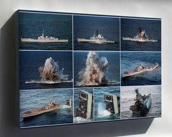 Canvas 24x36; Mark 48 Torpedo Testing Ship Sinking Navy
