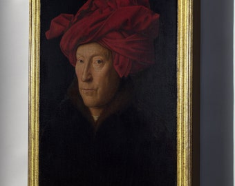 Canvas 24x36; Portrait Of A Man In A Turban, Oil Painting By Jan Van Eyck (1433)