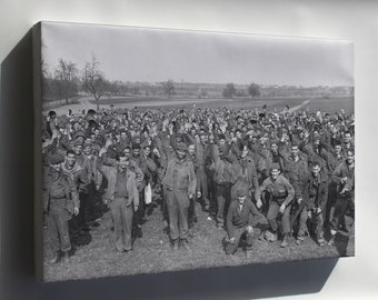 Canvas 16x24; 1,200 U.S. Soldiers Escape Pow Camp Limburg, Germany 1945