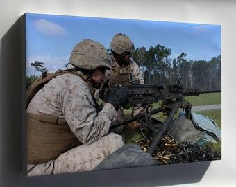 Canvas 16x24; 10Th Marines Conducts Machine Gun Training 140917 M Zz999 006