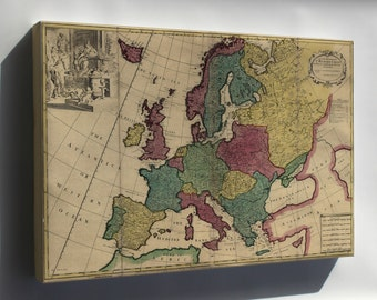 Canvas 16x24; Map Of Europe 1740