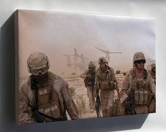 Canvas 16x24; Marines In Afghanistan V-22 Osprey