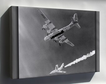 Canvas 16x24; Bell Aircraft Company X-2 & Boeing B-50 Superfortress 1955