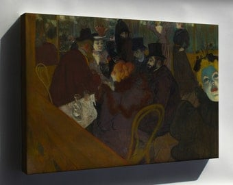 Canvas 16x24; Henri De Toulouse Lautrec At The Moulin Rouge