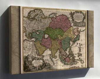 Canvas 16x24; Map Of Asia Ca.1700