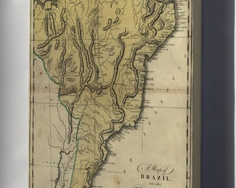 Canvas 16x24; Map Of Brazil, Now Called New Portugal 1814
