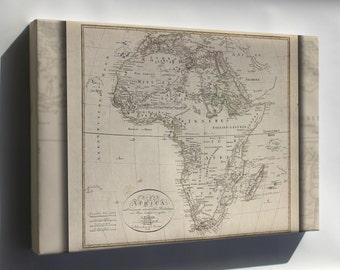 Canvas 16x24; Charte Von Africa Map 1804