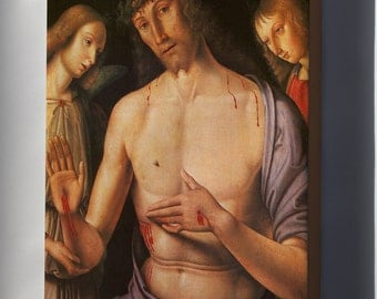 Canvas 16x24; Christ Supported By Two Angels, C.1490 By Raphael