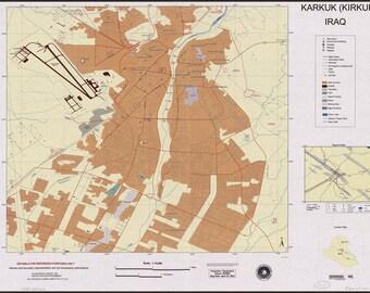 16x24 Poster; Map Of Karkuk Kirkuk, Iraq 2003