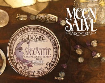 Moon Connection Balm *Moonlite* 100& Natural. With Essential Oils, herbs and crystals