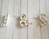 Mini Marquee Letter String Light // Home Decor Rustic Wedding Decor Marquee Love Heidi Swapp Light Up Letter