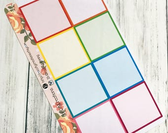 Square Box Planner Stickers