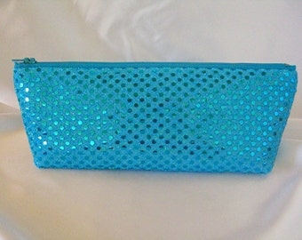 Turquoise Sequin Clutch - Turquoise Sequin Bag - Bridesmaid Sequin Clutch - Holiday Clutch - Special Occasion - Winter Formal Clutch