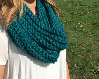 Emerald Teal Infinity Scarf