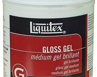Liquitex Professional Gloss Gel Medium, 16-oz, acrylic medium, gloss medium, art medium, collage medium