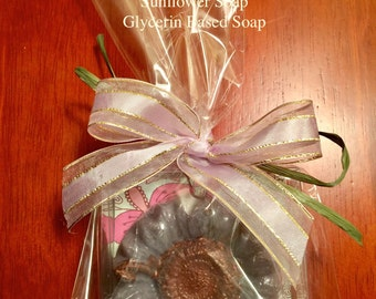 Purple Orchid Sunflower Soaps
