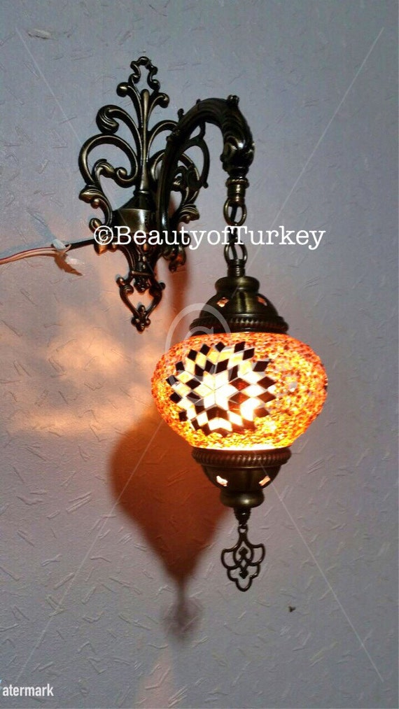 Moroccan Style Wall Lights : Mosaic LampAuthentic Wall Lamp Moroccan Style by BeautyofTurkey