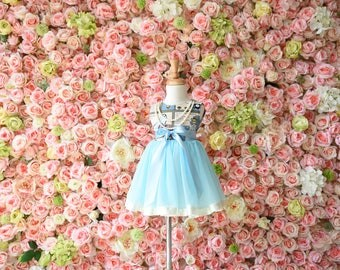 cinderella girl tutu dress custom order handmade Japan fabric organic cotton for baby girl