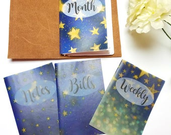 Nightly Stars Planner Dashboards For TN's and Midori Travelers Notebook V125