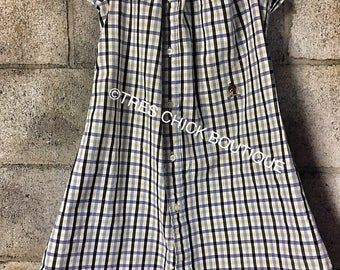 Girls' Toddlers' Button Down Spring Peasant Dress, size 5T