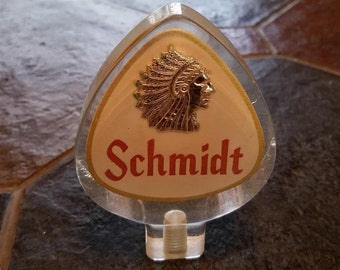 Vintage SCHMIDT beer tap handle