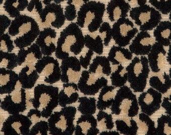 POLLACK LEOPARD CATS Meow Cut Velvet Fabric 10 Yards Feline