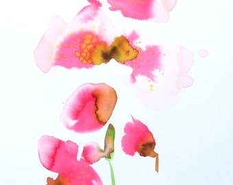 """Orchid Original ink painting """"Orchid"""" original painting in ink"""