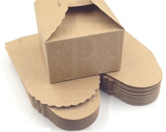 """100 Favor Boxe, Party Favor Boxes, Holiday Gift Boxes, Candy Boxes, Cookie Boxes - Box Size 3 1/2"""""""