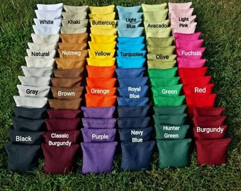 Cornhole Bags (2 full sets 16 bags total) filled with clean whole corn - 12 month Guarantee!
