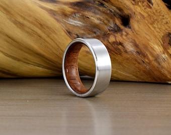 Cobalt & Brazilian Cherry Ring //SE// Men's Wedding Ring // Men's Wedding Band // Women's Wedding Ring // Men's Ring // Wedding Band