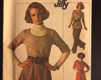1970's Simplicity Vintage Pattern- Dress, Top, Pants-- #7655