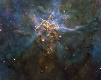 Craggy Mountain Carina Nebula Giclee photo print fine art Hubble Space Telescope Poster Astronomy