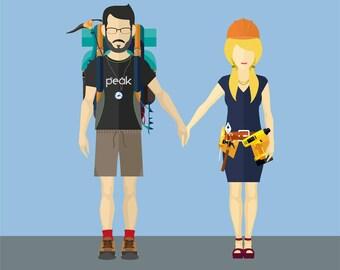 Custom Couple Illustration