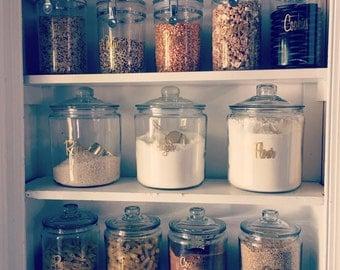 16 Pantry labels / kitchen labels / canister labels / jar labels