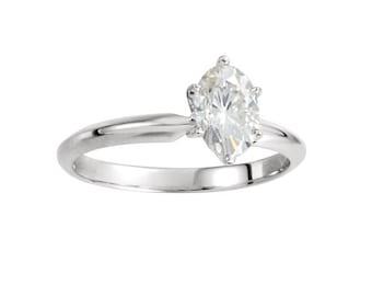 Diamond Engagement Ring / Oval Diamond Ring / Certified Diamond 0.51 carat E-VS2 / Diamond Solitaire / Bridal Jewelry / Wedding Jewely