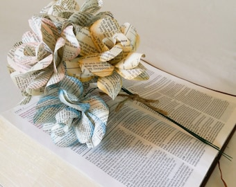 Bible Verse Book Page Paper Rose Flowers