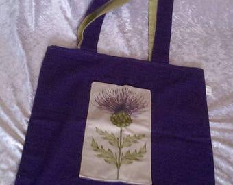 Thistle Cotton Shoulder Bag Free UK Delivery