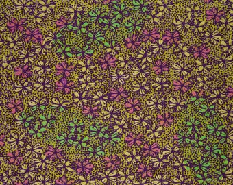 African cotton Daisy meadow fabric fabric