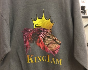 Abstract King I Am Lion Sweatshirt
