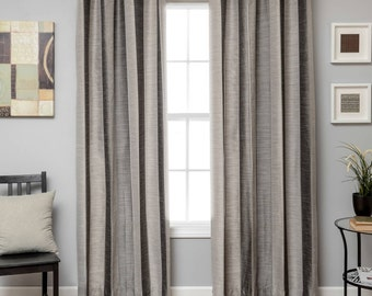 "Tandora  Stripe,  Tonal Jacquard Stripe, Silver/Slate color, by Softline, 53"" wide, Sold by  the yard"