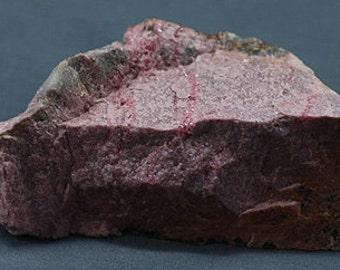 Rhodonite, massive pink lapidary specimen, England