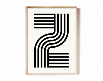 Letter Z - modern typography alphabet print.