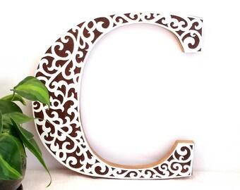 Wooden Letter Wall Decor - Sweetheart Table Decor - Wood Letter - Custom Reception Decor - Wedding Table Idea - Wooden Letter