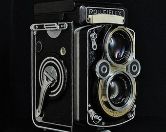 Vintage ROLLEIFLEX 3.5 F Model 1 ( K4E ) TLR Film Camera, Zeiss Planar 75mm f/3.5 Taking Lens, Light Meter, Circa: 1958-1960, EXCEPTIONAL!