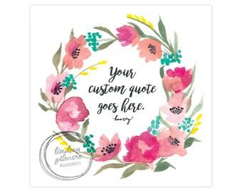 Custom Rosy Wreath