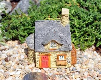 Grandma's Cobblestone Micro Cottage for Miniature Garden, Fairy Garden