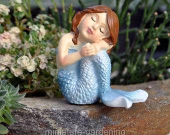 Mermaid Oceane for Miniature Garden, Fairy Garden