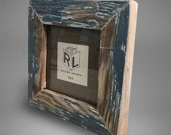 4X4 Square Picture Frame   1 of 1 Handcrated   Recycled Reclamation   Original Colors   Environmentally Friendly Matte ClearCoat