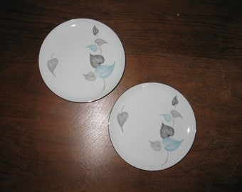 1950's Bavarian China Plates (Set of 2)